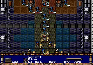 Garett liderando as tropas diante de Pythion. Confesso que perdi três turnos só para botar todo mundo em posição para uma foto épica