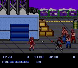 Maria levando chumbo no Mega Drive