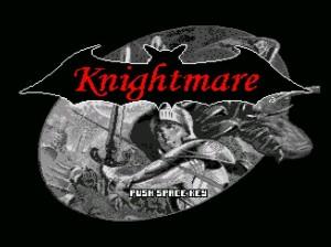 A nova tela-título do Knightmare!