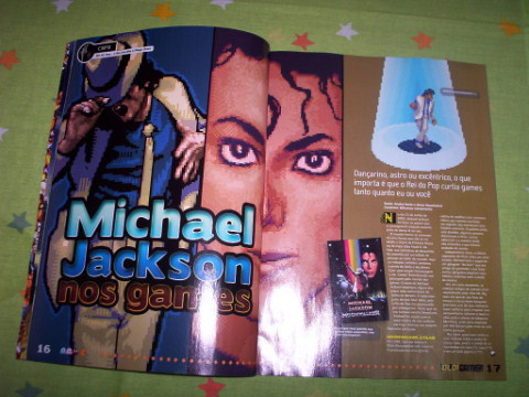 Capa da matéria sobre os games do Michael Jackson... descobri que o rei tinha jogo lançado até para os pcs!