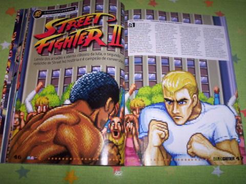 A franquia Street Fighter teve uma matéria toda especial de 11 páginas!