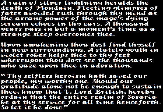 O espetacular encerramento de Ultima I.