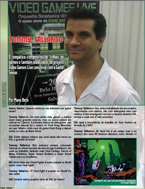 Entrevista com Tommy Tallarico!
