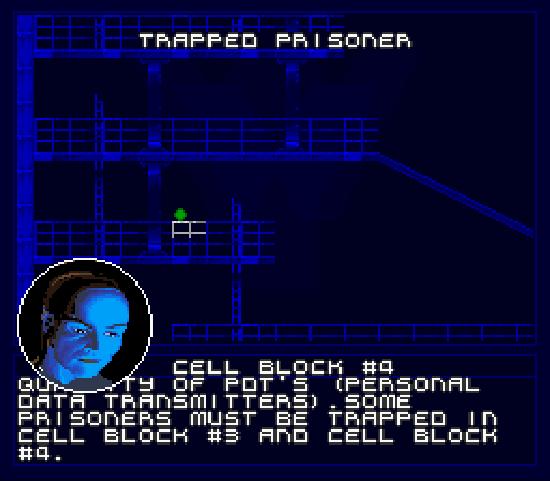 O mapa é complexo: é possível abrir portas e analisar os mapas das salas anexas.