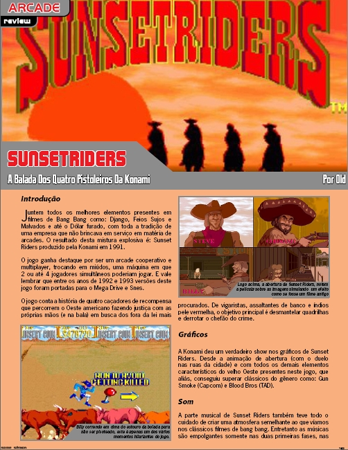 Sunset Riders na Game Sênior #4!