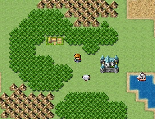 Vista do mapa de Phantasy Star 5.
