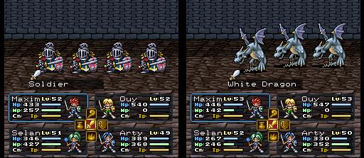 os soldados são mais fracos que alguns inimigos, como os White Dragons