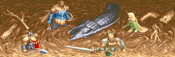 Os valorosos heróis do game, após derrotarem um Dragão Negro...