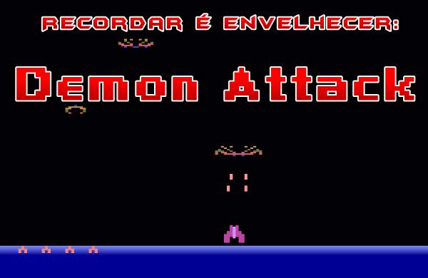 Hoje vou lembrar mais um clássico do imortal Atari 2600: o shooter Demon Attack.