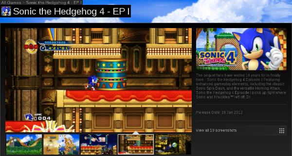 Pronto, agora todo mundo vai poder jogar e malhar Sonic 4 mesmo sem ter um console de última geração! Sensacional!