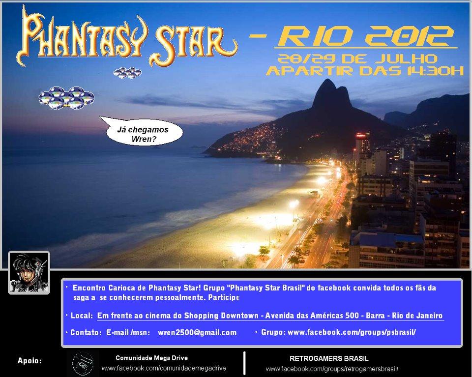 Encontro Phantasy Star – Rio 2012! Eu vou!